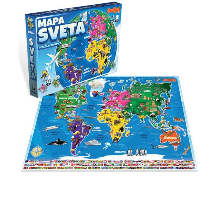 Pertini Puzzle Mapa Sveta P 0355 20183 Shopnaklik Rs
